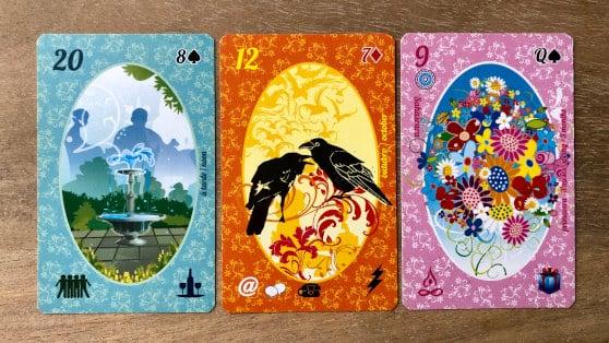 Petit Lenormand Esmeralda : exemple de tirage à 3 cartes