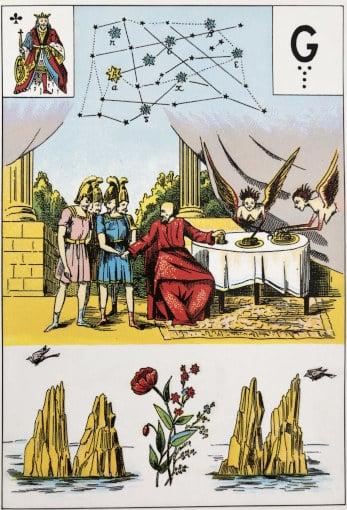 Une carte de la Toison d'Or dans le Grand Lenormand