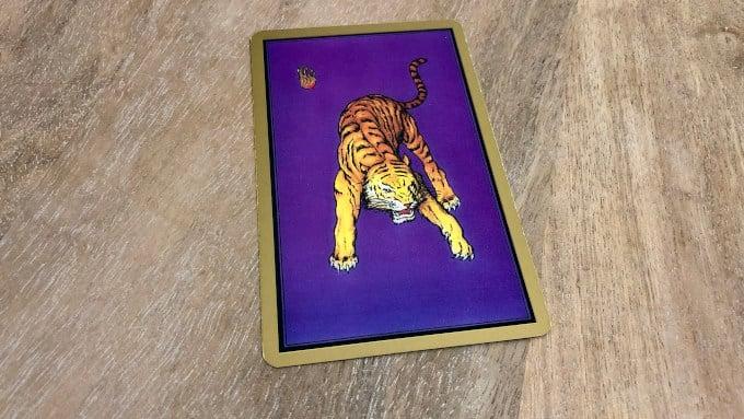 La carte du Tigre dans le Tarot Persan Indira