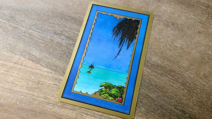La carte de l'ile dans le tarot Persan Indira : qu'évoque ce lieu paradisiaque ?