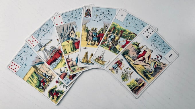 Les 6 cartes de la Toison d'Or dans le Grand Lenormand