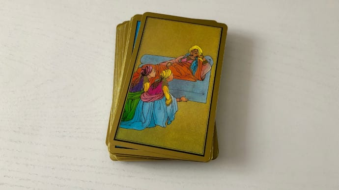 La carte Maladie du Tarot Persan Indira évoquant le malaise