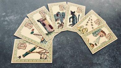 Les cartes de la lune dans l'Oracle Belline