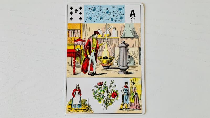 Le 7 de Pique du Grand Lenormand, Alchimie comme Amour ? Pas seulement !