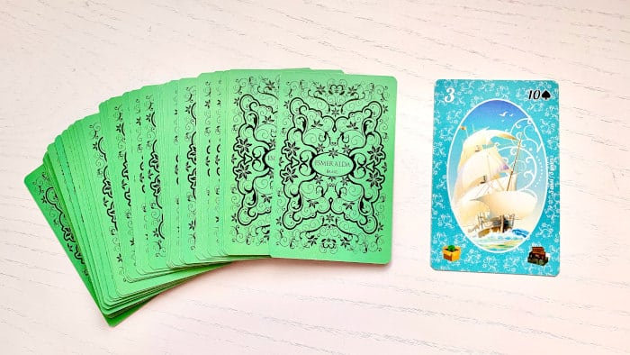 Le Vaisseau - Carte n°3 - Petit Lenormand Esmeralda