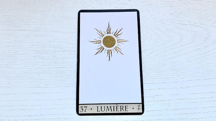 Oracle de la Triade - Lumière - Carte 37