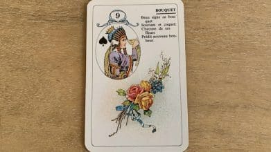 Petit Lenormand - Bouquet (9) et ses associations de cartes