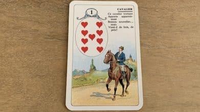 Cavalier du Petit Lenormand et ses associations de cartes (1)