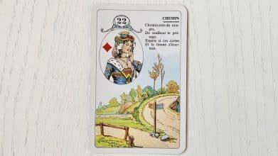 Petit Lenormand - Le Chemin (22) et ses associations de cartes
