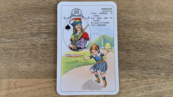 Petit Lenormand - l'Enfant et ses associations de cartes (13)
