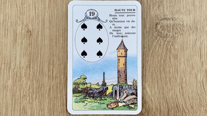 Petit Lenormand - Haute Tour et ses associations de cartes (19)