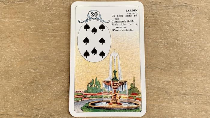 Petit Lenormand - Jardin (20) et ses associations de cartes