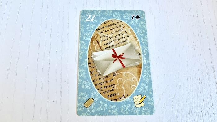 Petit Lenormand - La Lettre - Carte 27