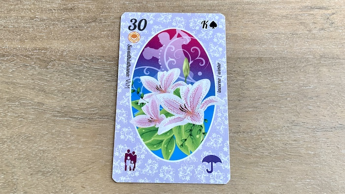 Petit Lenormand - Lys - Carte 30