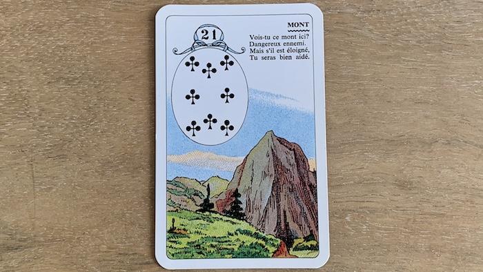 Petit Lenormand - Le Mont et ses associations de cartes (21)