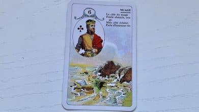 Petit Lenormand - Nuage (6) et associations de cartes