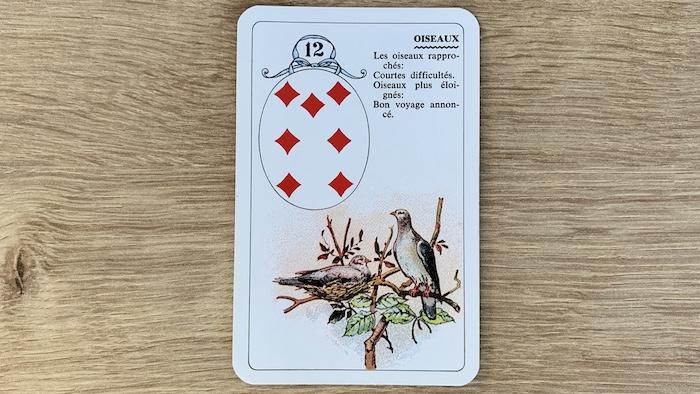 Petit Lenormand - Oiseaux (12) et associations de cartes