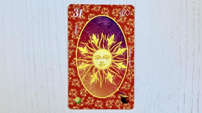 Petit Lenormand - Le Soleil - carte 31