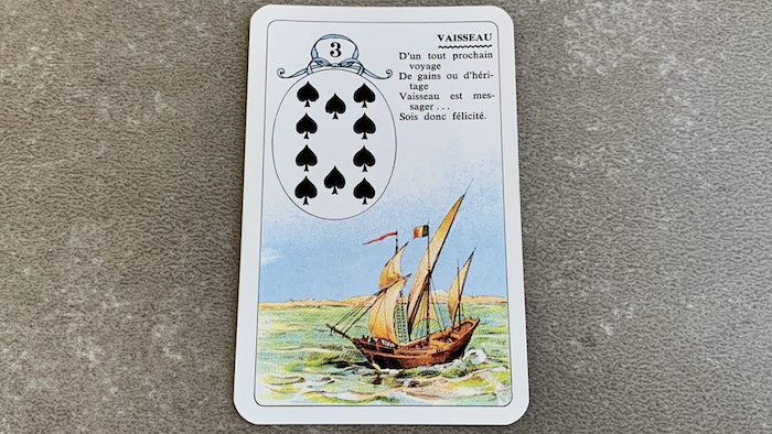 Petit Lenormand - Le Vaisseau et associations de cartes (3)