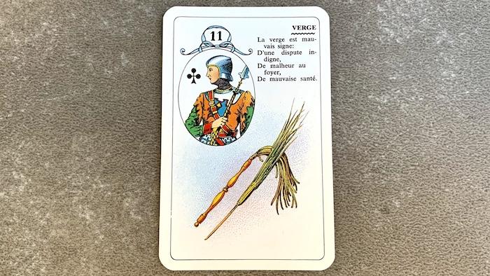 Petit Lenormand - La Verge (11) et ses associations de cartes
