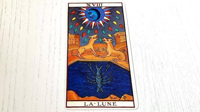 Tarot de Marseille - Lune - Carte 18