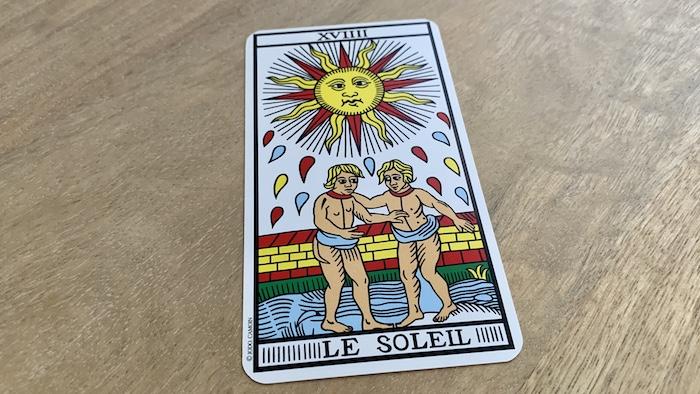 Tarot de Marseille - Soleil - Carte 19