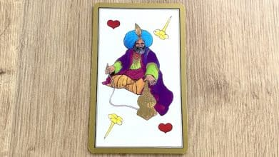 Tarot Persan Indira Roi de Coeur