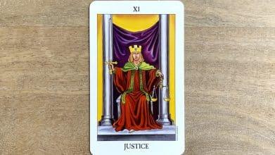 Tarot Rider Waite - Justice - Carte 11