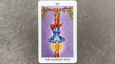 Tarot Rider Waite - The Hanged Man (Le pendu) - Carte XII