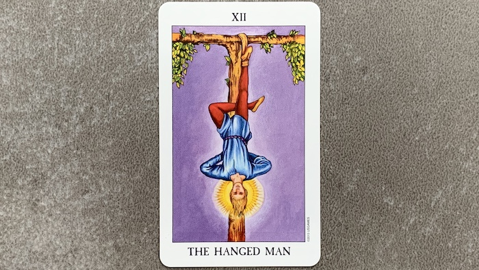 Tarot Rider Waite - The Hanged Man (Le pendu) - Carte XII