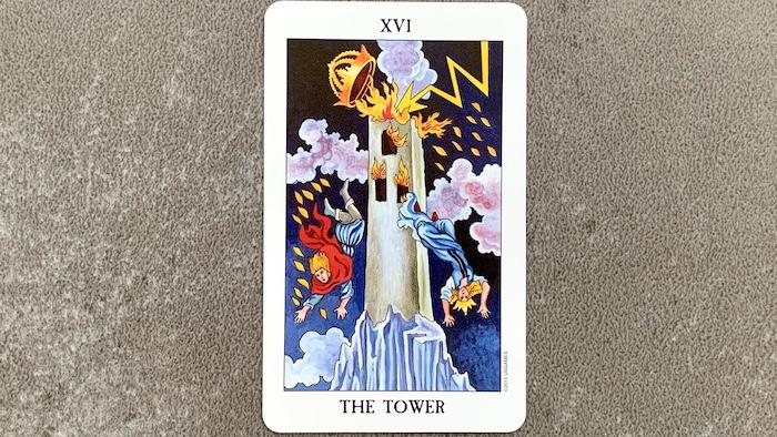 Tarot Rider Waite - The Tower