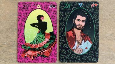 Petit Lenormand carte Dame et Monsieur