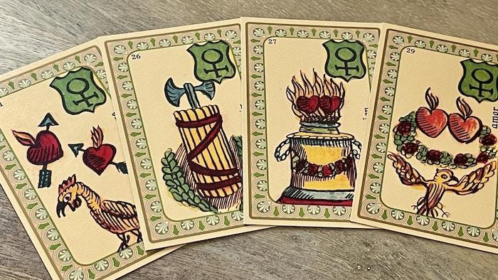 Oracle Belline et cartes de l'amour