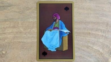 Tarot Persan Indira - Roi de Pique Cimeterre
