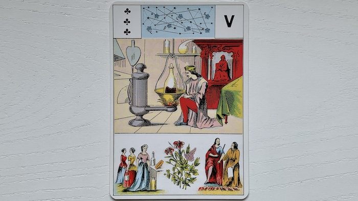 Grand Lenormand - 3 de Trèfle
