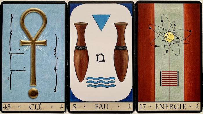 Oracle de la Triade 3 cartes