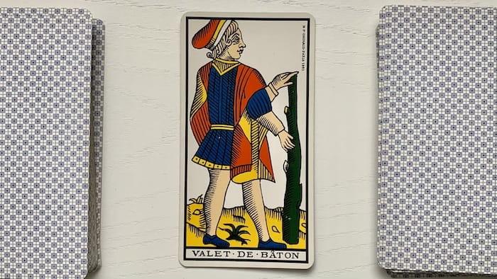 Tarot de Marseille - Valet de Bâtons