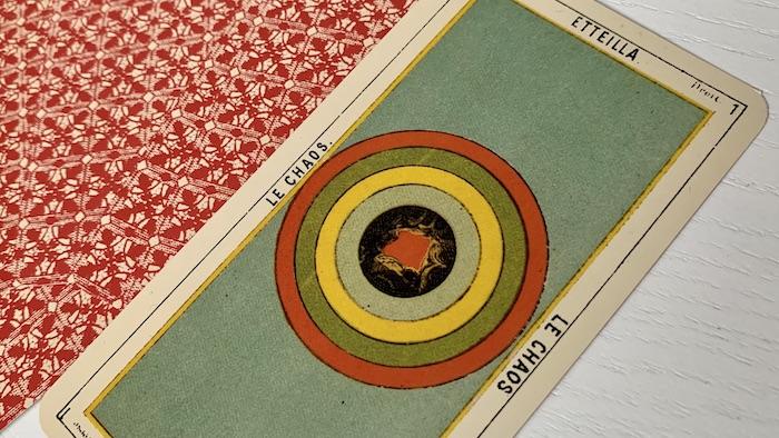 Tarot égyptien - Etteilla - le Chaos (carte 1 droite)