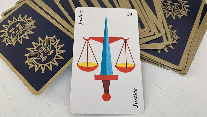 Horoscope Belline - Justice carte 34