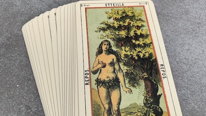 Tarot égyptien - Etteilla - Repos (carte droite n°8)