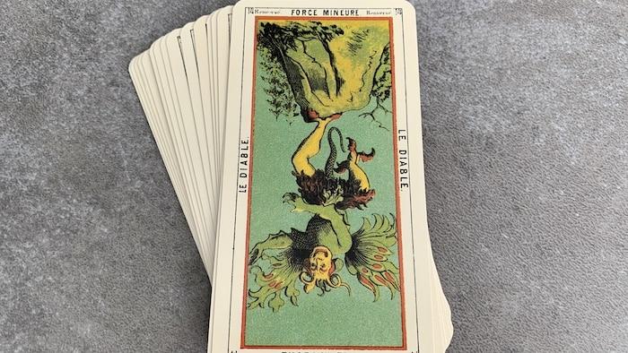 Tarot égyptien - Force Mineure - le Diable (carte renversée n°14)