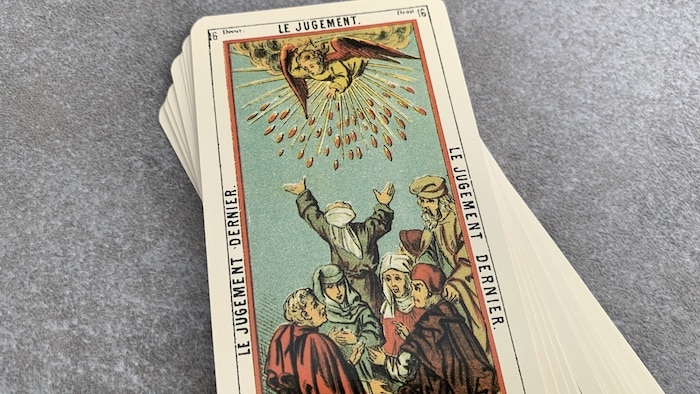 Tarot égyptien - Jugement - le Jugement dernier (carte droite n°16)