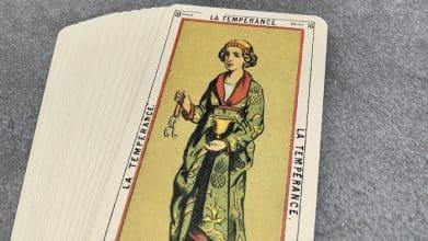 Tarot égyptien - La Tempérance (carte droite n°10)