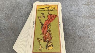 Tarot égyptien - Néant - la Mort (carte renversée n°17)