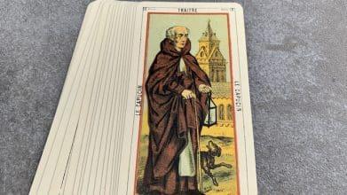 Tarot égyptien - Traitre - le Capucien (carte droite n°18)