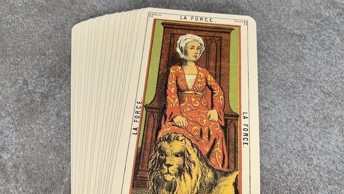 Tarot égyptien - la Force (carte droite n°11)