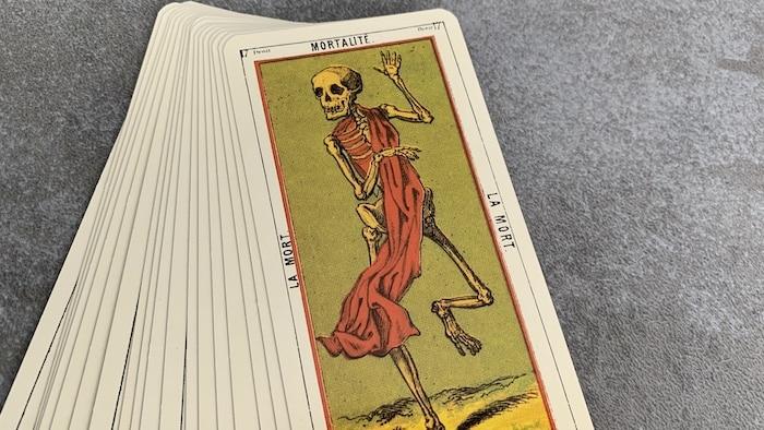 Tarot égyptien - la Mort - Mortalité (carte droite n°17)