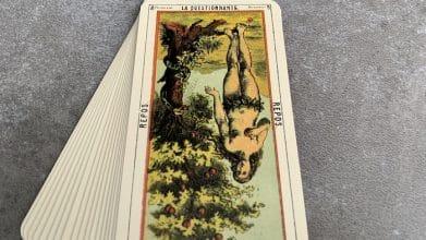 Tarot égyptien - la Questionnante - Repos (carte renversée n°8)