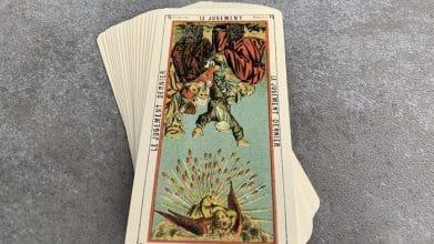 Tarot égyptien - le Jugement - le Jugement dernier (carte renversée n°16)