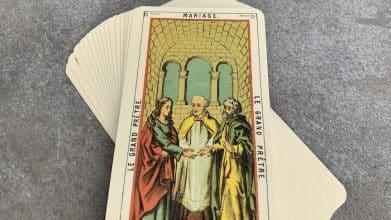Tarot égyptien - le Mariage - le Grand Prêtre (carte droite n°13)